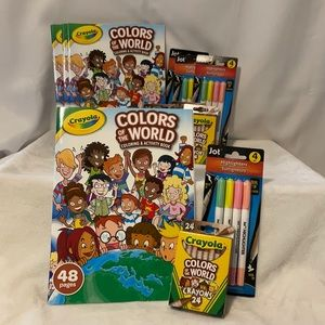 🆕 Crayola Colors of the World Crayons & Book